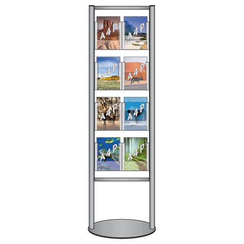 LF9: Aluminium-framed stand with leaflet dispensers
