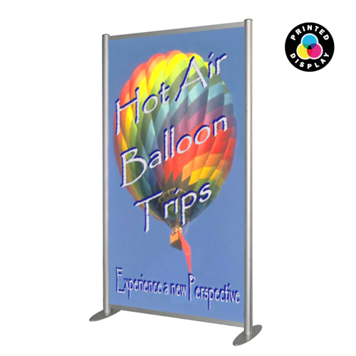 SF2A: Printed sign panels in free standing aluminium frame - wide
