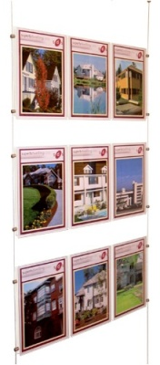 Display: 3x wire suspended triple A4P poster holders