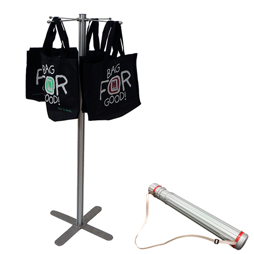 VF2C: Portable carrier bag stands