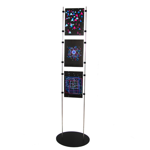 Black poster stand (1,5m, 10mm bar)